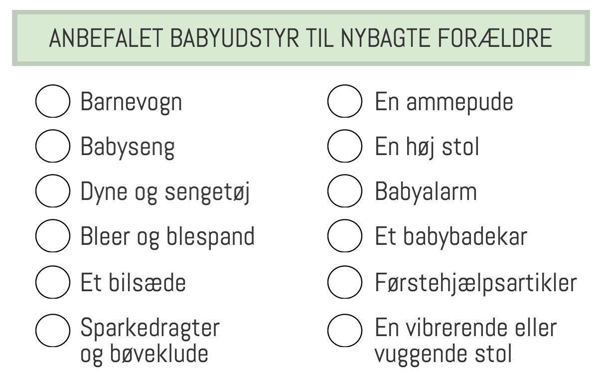 Find det rette babyudstyr