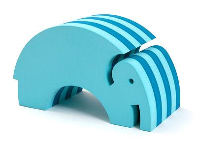 Blå elefant fra bObles